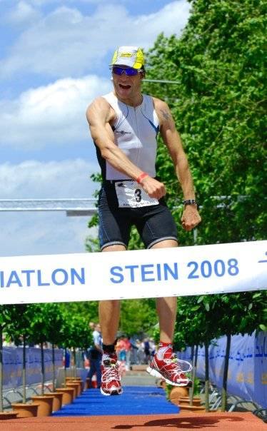 Winst in Stein 2008 (3/4 triathlon)